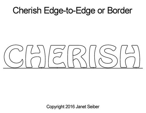 Cherish edge to edge designs or border
