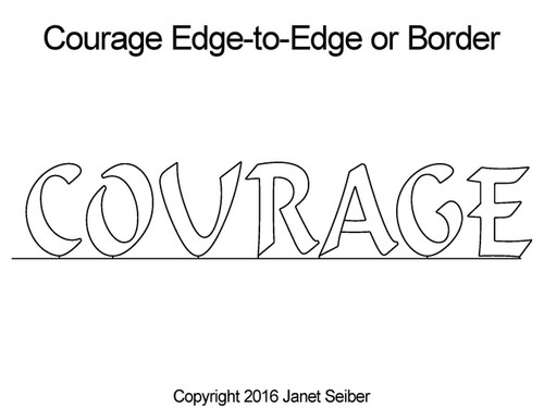 Courage edge-to-edge quilt pattern or border