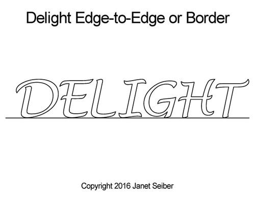 Delight edge to edge designs or border