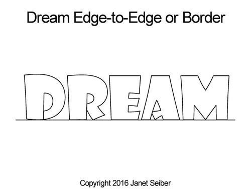 Dream edge-to-edge quilt designs or border