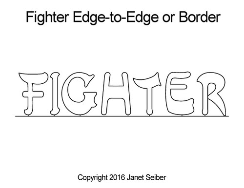 Fighter edge to edge quilt design or border