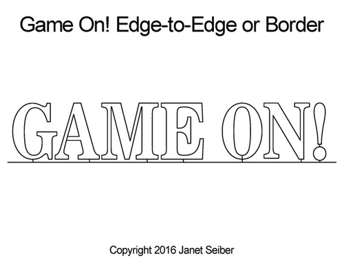 Game on edge-to-edge quilt designs