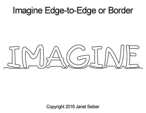 Imagine edge-to-edge quilt pattern or border
