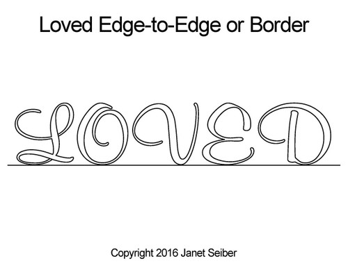 Loved edge to edge quilting design or border