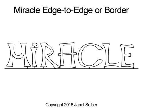 Miracle edge to edge quilt design or border