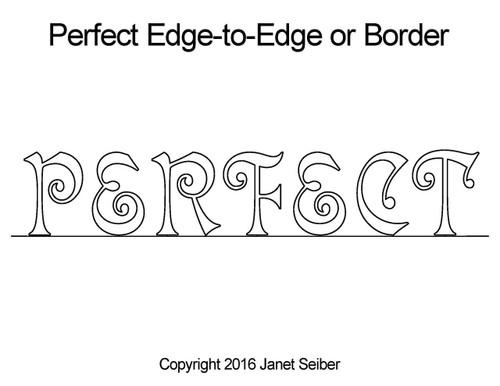 Perfect edge to edge quilting design or border