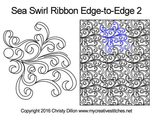 Sea Swirl Ribbon Edge-to-Edge 2