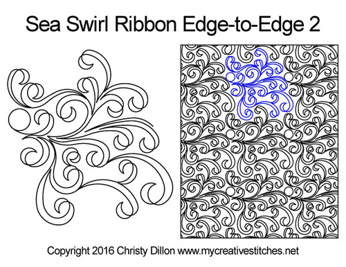Sea swirl ribbon edge to edge 2 designs