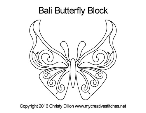 Bali butterfly block quilting designs