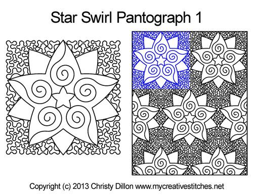 Star Swirl Edge-to-Edge 1