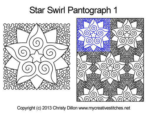 Star swirl pantographs 1 quilting
