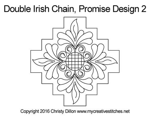 Promise double irish chain 2 quilt pattern
