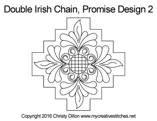 Promise double irish chain 2 quilt pattern