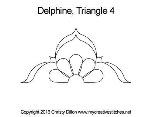 Delphine triangle 4 quilt pattern