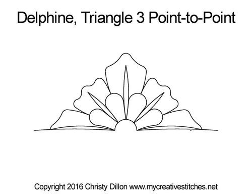 Delphine half triangle 3 p2p quilt design