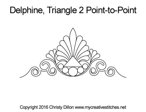 Delphine triangle 2 p2p quilting pattern