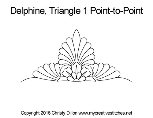 Delphine triangle 1 p2p quilting pattern