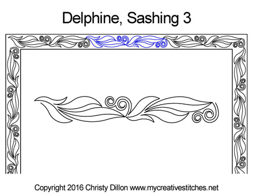 Delphine sashing 3 quilt pattern