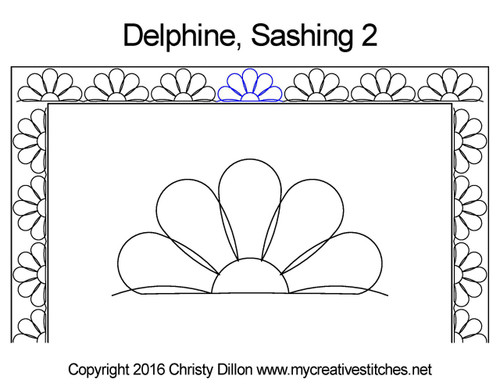 Delphine sashing 2 quilt pattern