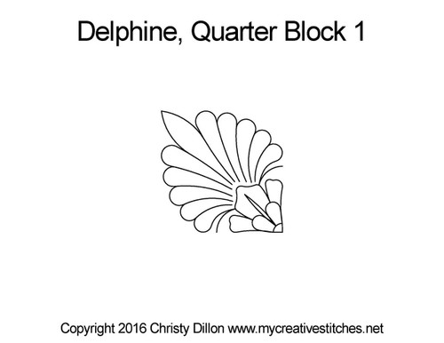 Delphine quarter block 1 quilt design