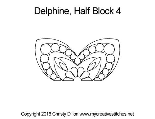 Delphine half block 4 quilt pattern