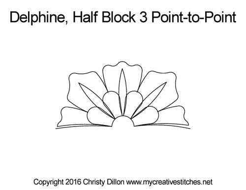 Delphine half block 3 p2p quilt pattern