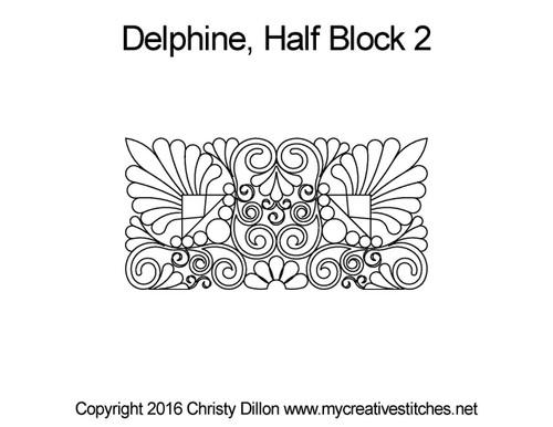 Delphine half square block 2 quilt pattern