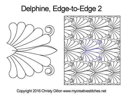 Delphine edge to edge 2 digital quilt design