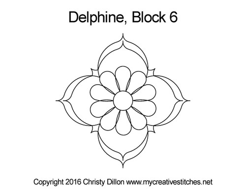 Delphine triangle block 6 quilt pattern