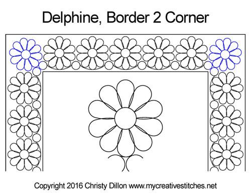 Delphine quilting patterns for border & corner
