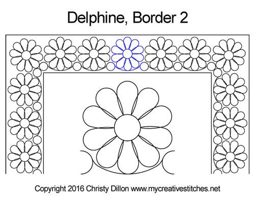 Delphine square border 2 quilt pattern