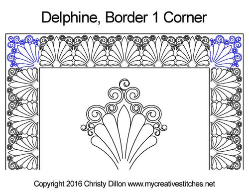 Delphine border & corner quilt pattern