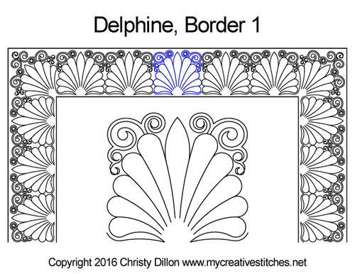 Delphine border 1 quilting pattern