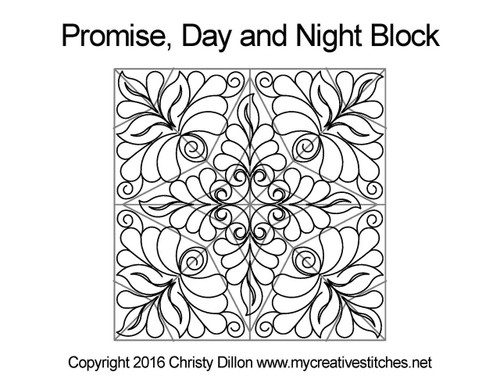 Promise day & night quilting pattern for blocks