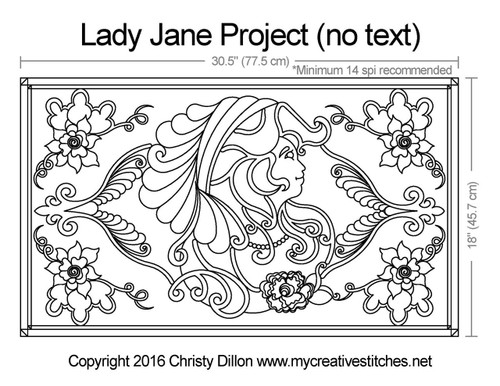 Lady jane free quilting project with no text