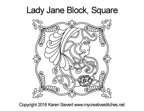 Lady jane block square quilt pattern