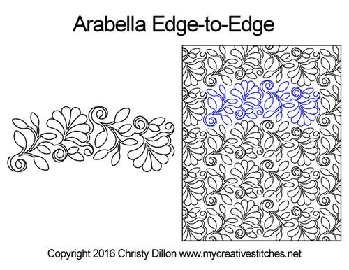 Arabella free edge to edge quilting designs