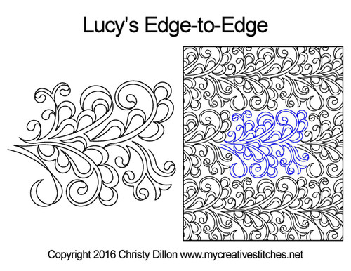 Lucy's edge-to-edge quilting design