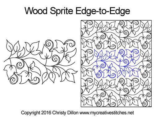 Wood sprite edge-to-edge quilt design