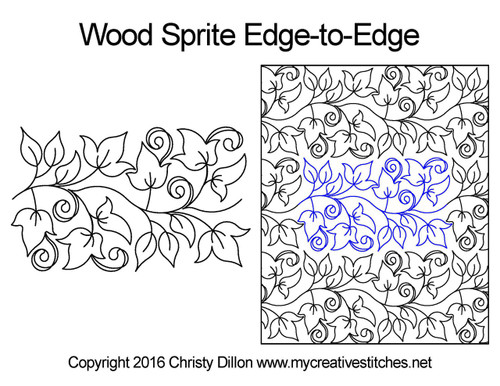Wood sprite edge-to-edge quilt design