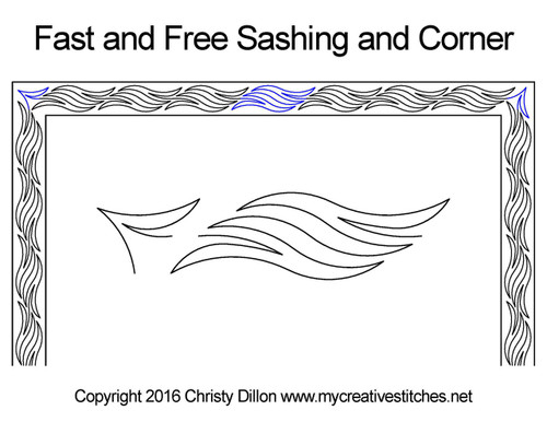 Fast and free sashing quilt pattern