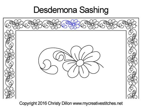 Desdemona Sashing quilt pattern