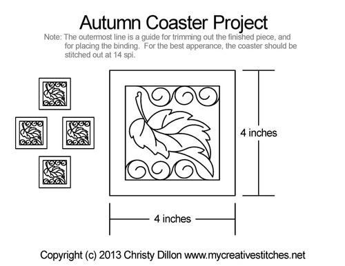 Autumn coaster free quilting projects