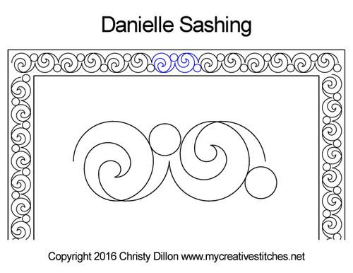 Danielle sashing quilting design