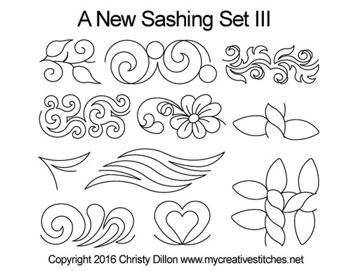 A new computerized sashing quilting pattern