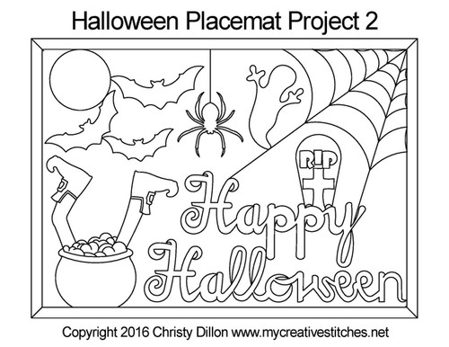 Halloween placemat free quilting project 2