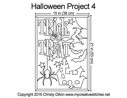 Halloween free digital quilting project 4