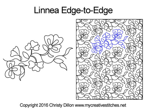 Linnea edge to edge quilt patterns