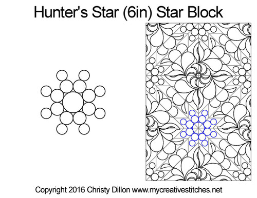 Hunter's quilting designs for star blocks