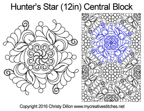 Hunter's quilting pattern for central block